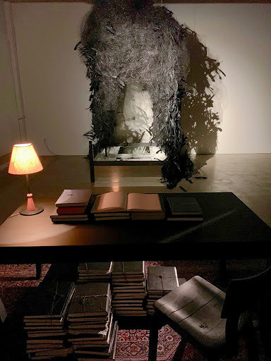 "Installation view, ""Down Below,"" at Rosalux Gallery, 2019 Rebecca Krinke"