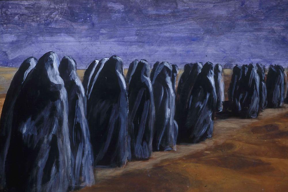 Women of arabia  24 in. x 36 in.,  Acrylic Painting,  2002 Al Mansour
