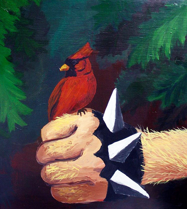 Night of the Demon; Friend to Beast and Bird, Acrylic on Panel, 24 in x 30 in, 2004-05
