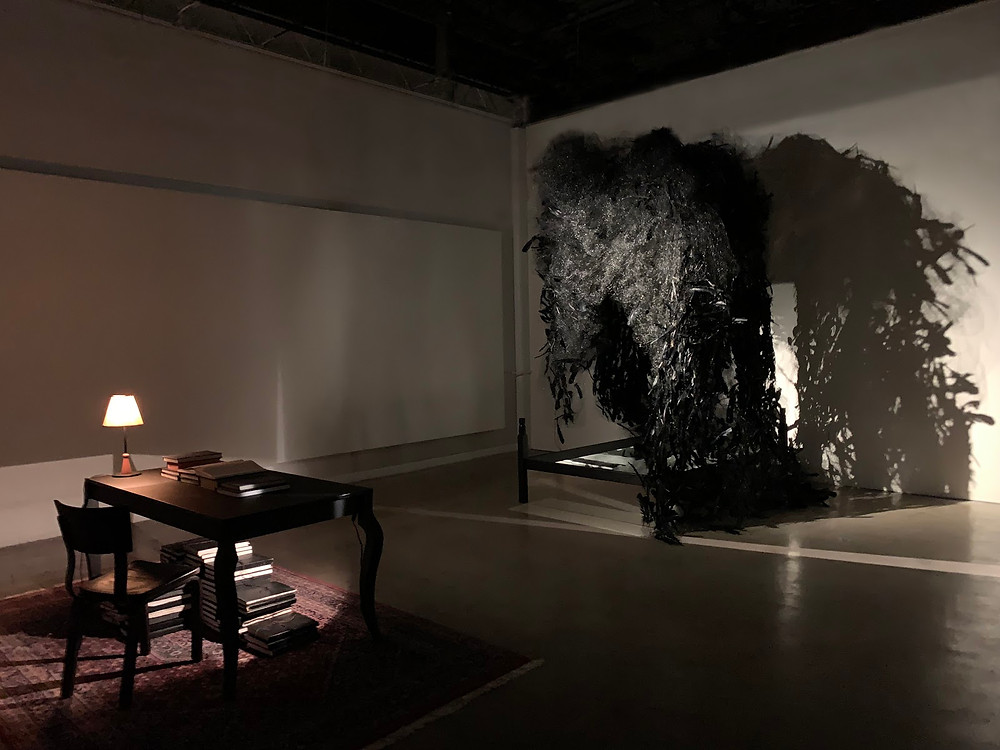 """Installation view, """"Down Below,"""" at Rosalux Gallery, 2019"""