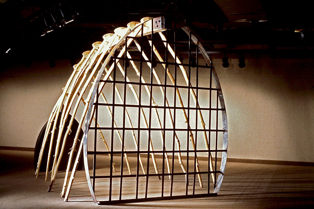 Cathedral, 1997, trees, wood, metal Betsyt Alwin Sculpture