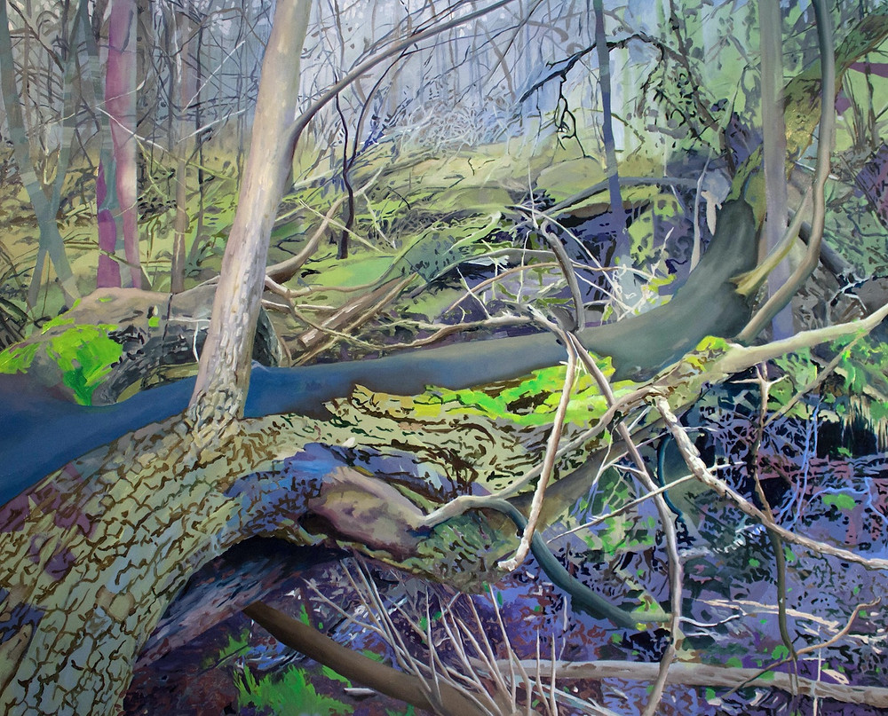 flashe oil painting landscape Estlund