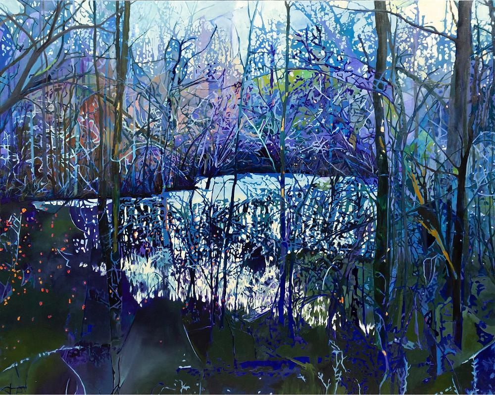 Oil painting landscape Estlund