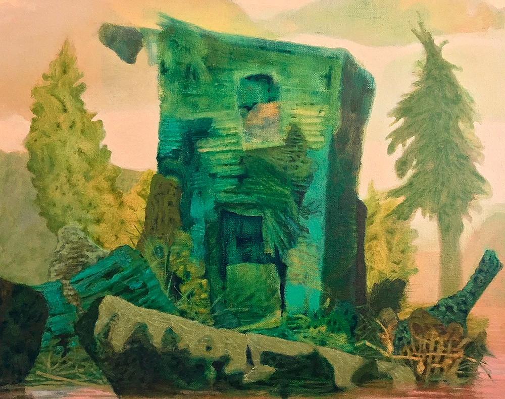 Monongahela, Oil on Linen, 16 in x 20 in, 2019 noderer landscape painting