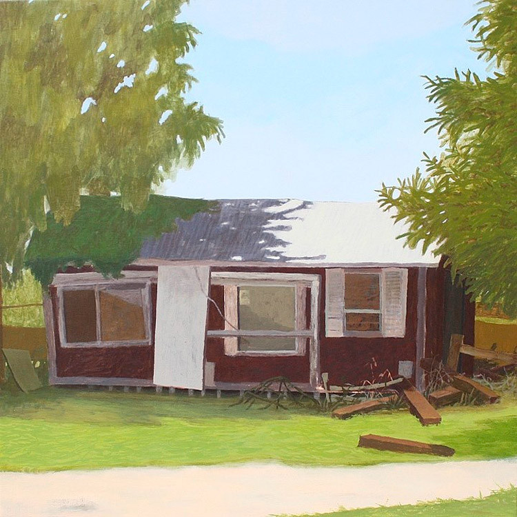 Store II, Acrylic on Wood Panel, 24 in x 24 in, 2010 noderer landscape painting