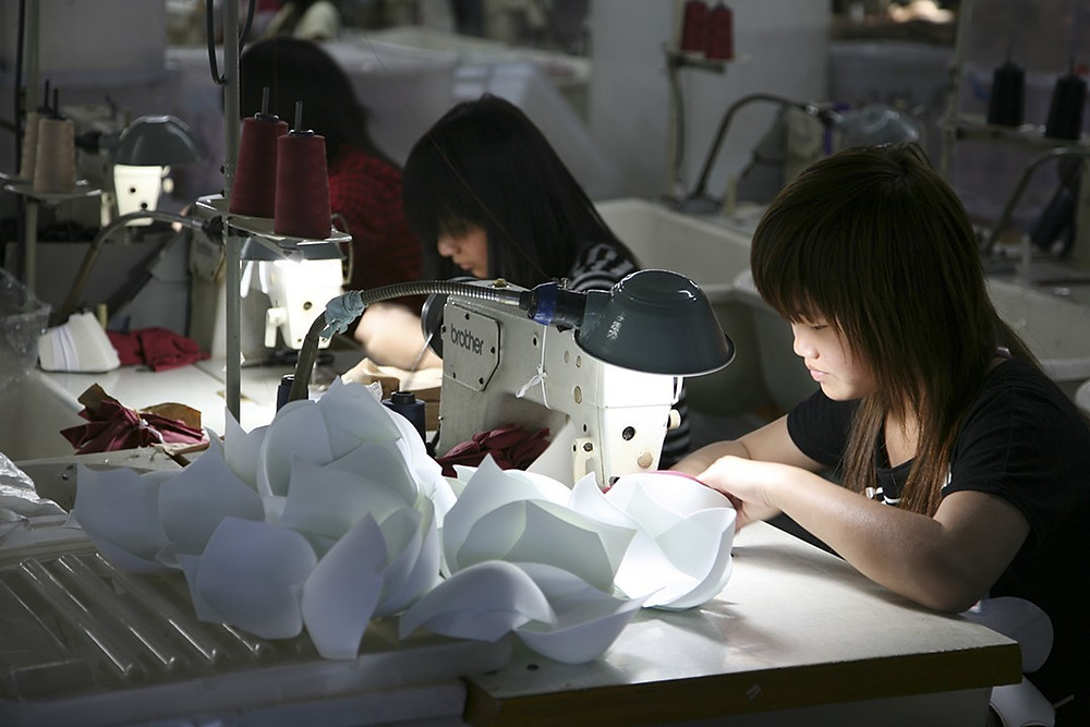 Untitled # 16, Digital Photograph, 2010 Chinese women sewing in factory Briggs