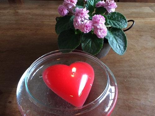 Vela coração - flutuantes ou de mesa