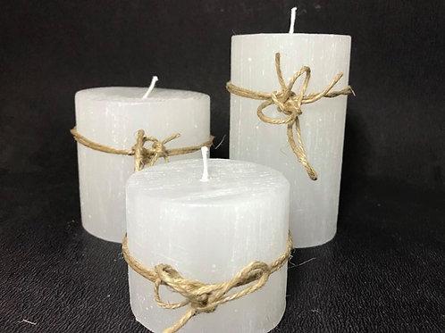 Trio de velas rusticas
