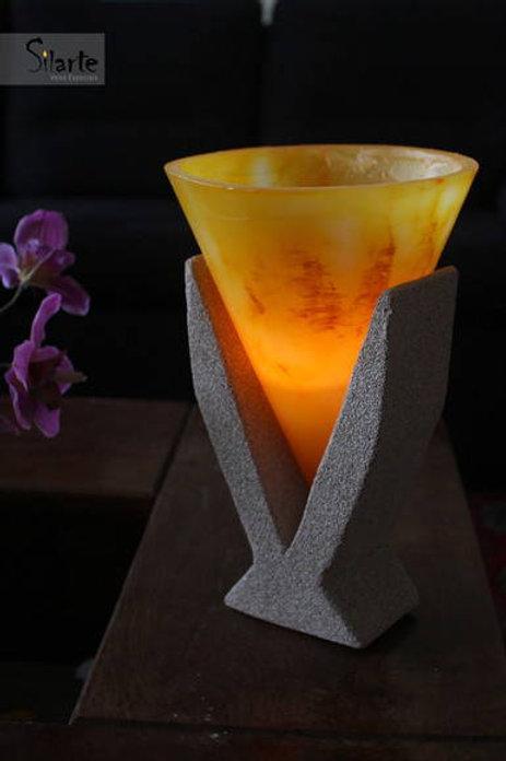 Vela luminária cone