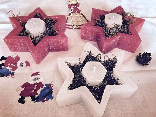 Decoração de mesa de natal, luminária estrela