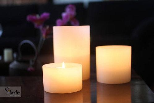 Velas de mesa, luminárias
