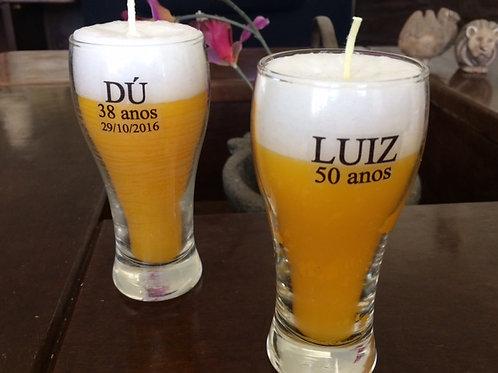 Vela cerveja personalizada