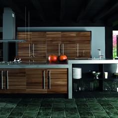 Ultra Gloss Noce Marino Kitchen