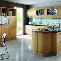 Natural Oak Euroline Kitchen