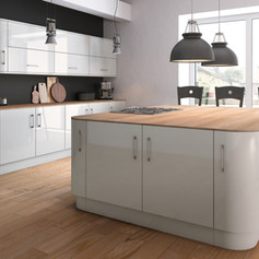 Ultra Gloss Light Grey Kitchen