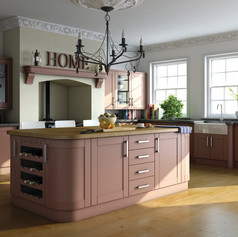 Paintable Tuscan Red Shaker Kitchen