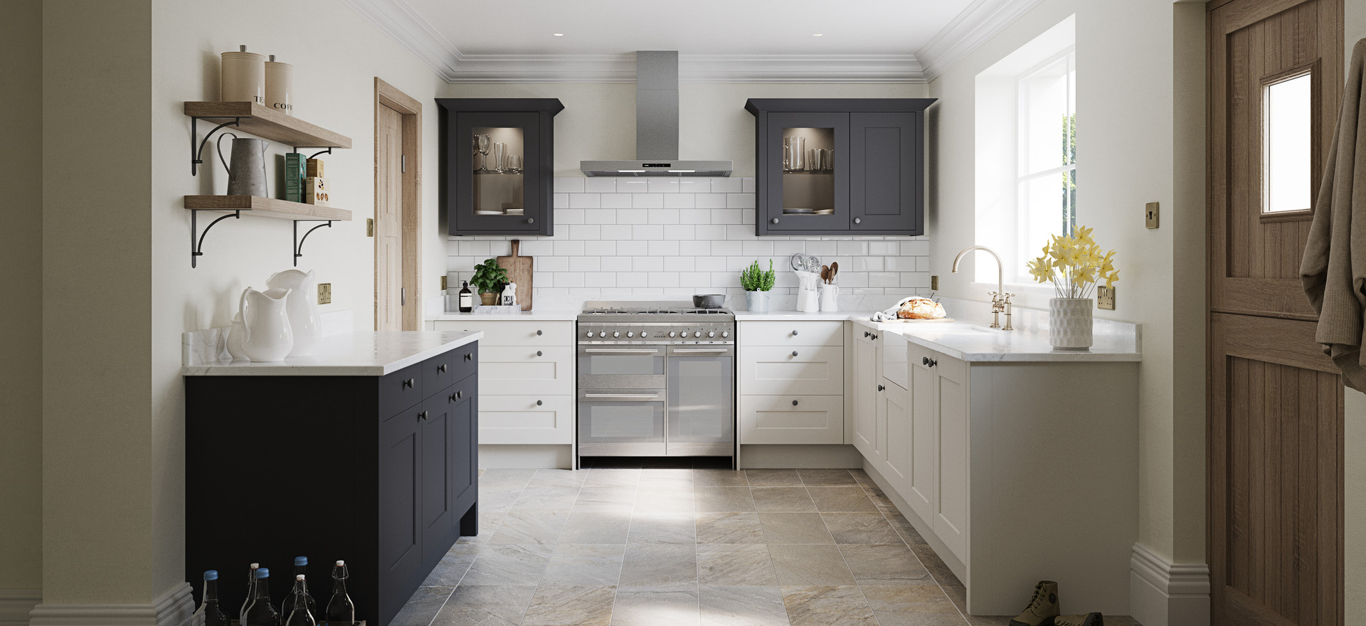 Belsay Dove Grey & Graphite