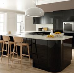 Ultra Gloss Black Kitchen