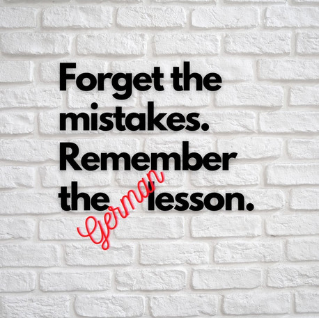5 Common Mistakes made by German Learners