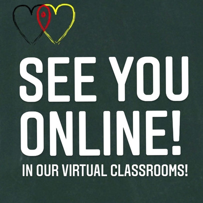 See you online! Learn German with is now online.
