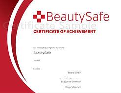 Beauty Safe - Certificate - Sample - 2.j