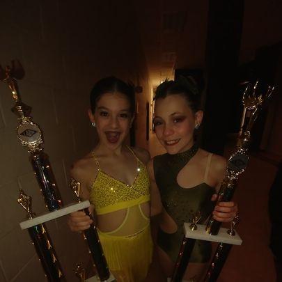 2nd and 1st Runner-ups to Junior Miss Dance of Louisiana