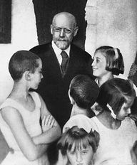 korczak with children