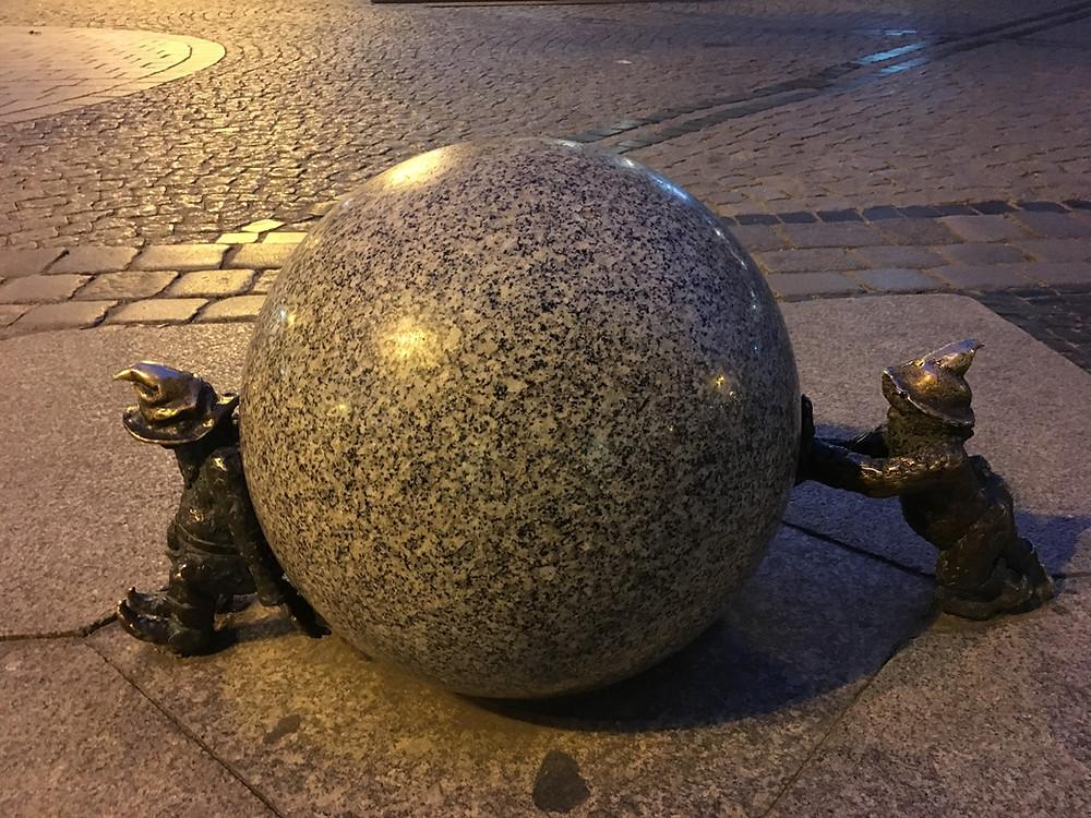 Dwarfs in Wroclaw, Poland