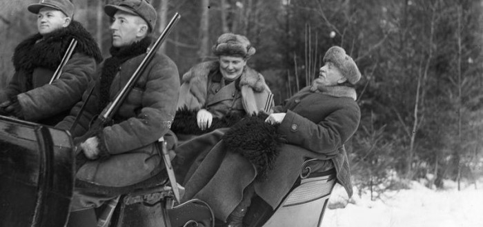 Herman Goering and Ignacy Moscicki in Bialowieza