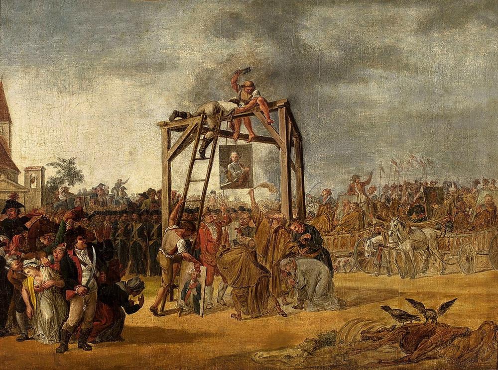 Jan Piotr Norblin,  Hanging of Traitors, 1794, National Museum, Warsaw