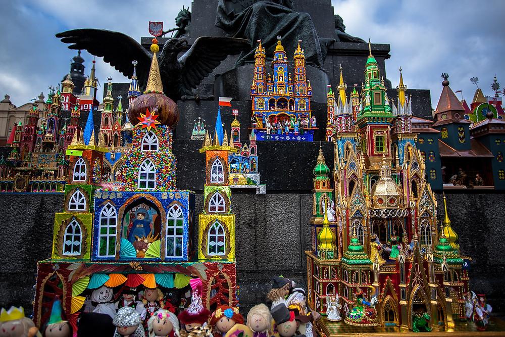 Nativity scenes in Krakow, Poland