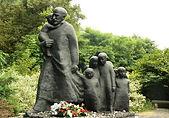 Korczak monument in Warsaw