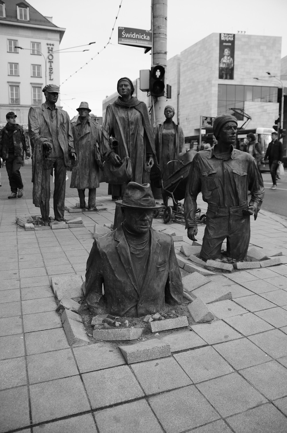 Wroclaw, Monument of Anonymous Pedestrian