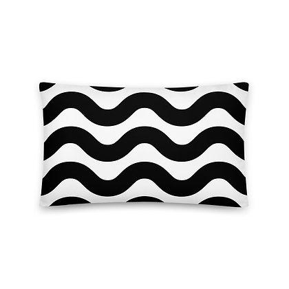 Black Wave Pillow