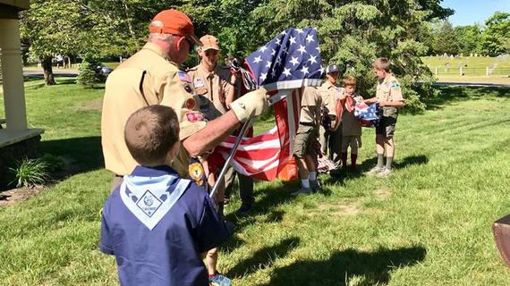 Troop 105 Flag Retirement Ceremony 2019 2