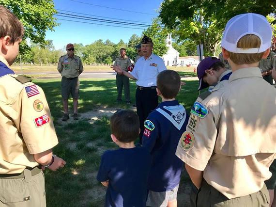 Troop 105 Flag Retirement Ceremony 2019