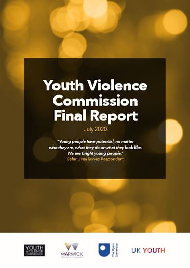 Front cover of Youth Violence Commission final report (standard format)