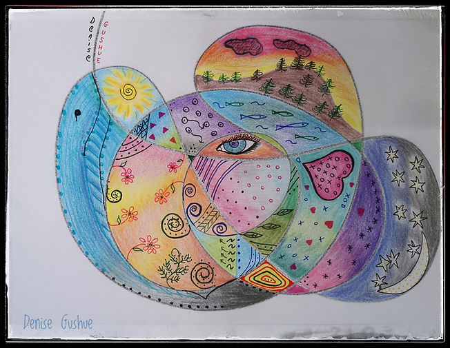The World Within - coloured pencils with