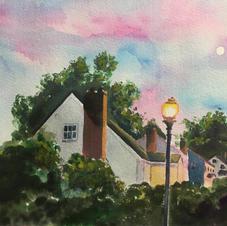 South Arlington Virginia 9x12 Gouache Painting 2019