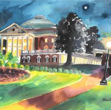 "UVA Rotunda 9x12"" Watercolor Painting 2018"