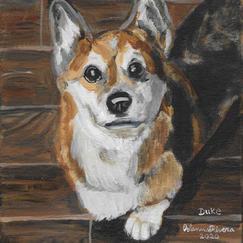 "Duke 10x8"" Acrylic Painting on Canvas 2020"
