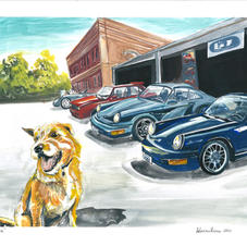 """Charlie and the Porsches 11x14"""""""