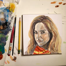 Hermione Painting with Palette 2020