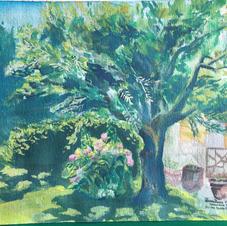"""Valmontone, Italia 9x12"""" Gouache Painting 2019"""