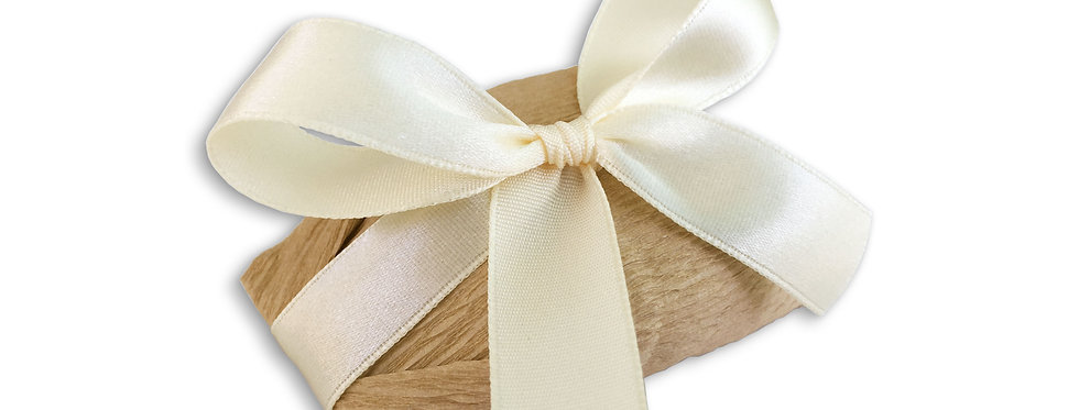 Brown Wrapping with Ivory Ribbon