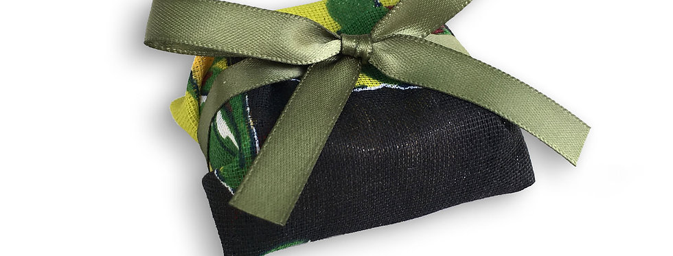Colorful Wrapping with Green Ribbon