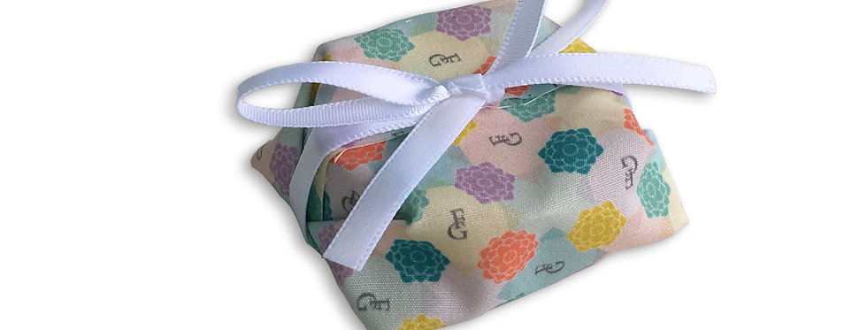 Colorful Wrapping with White Ribbon