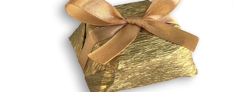 Gold Wrapping with Gold Ribbon