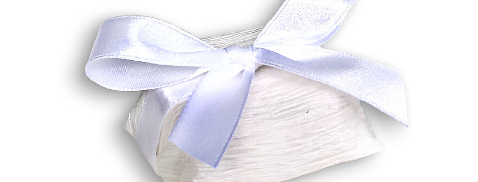 White Wrapping with White Ribbon