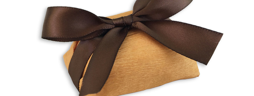 Orange Wrapping with Brown Ribbon